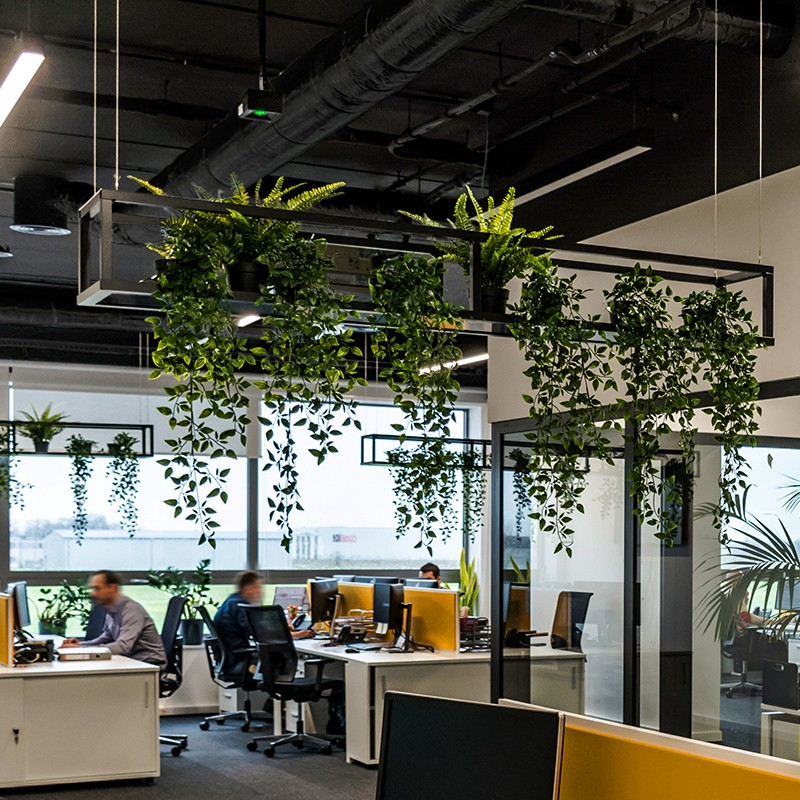 Projekt architektury wnętrz siedziby firmy logistycznej: 1500m2 open space z niebanalnąaranżacją